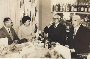 Os irmãosLuiz Felipe Kunz e Emílio Kunz na Bebidas Maruby S/A (Década de 1940)