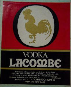 Vodka Lacombe (E. Kunz & Cia. Ltda, Flores da Cunha, 1980)