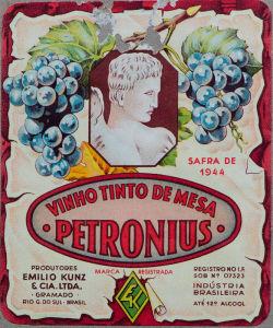 Vinho Petronius (Emílio Kunz, Gramado, 1944)