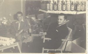 Eloy Kunz, on the left, at Bebidas Marumby, Caxias do Sul (around1950).
